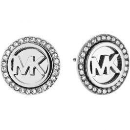 Michael Kors Ocelové náušnice s logem a krystaly MKJ4516040
