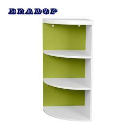 BRADOP ČR Rohová skříňka zelená, C 117
