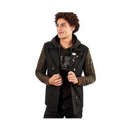 Q/S designed by s.Oliver Pánský dvouřadový černý kabát, M