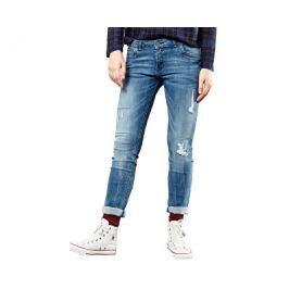 Q/S designed by s.Oliver Dámské modré kalhoty délka 30, 38