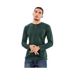 Q/S designed by s.Oliver Pánské zelené triko s dlouhým rukávem, XL