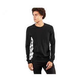Q/S designed by s.Oliver Pánský černý svetr s nápisy, M