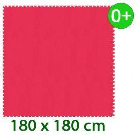 MALÝ GÉNIUS Červený pěnový koberec  - XL 9 dílů 16mm (díl 60cm)