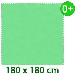 MALÝ GÉNIUS Zelený pěnový koberec  - XL 9 dílů 16mm (díl 60cm)