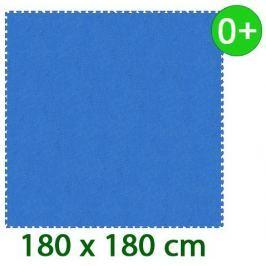 MALÝ GÉNIUS Modrý pěnový koberec  - XL 9 dílů 16mm (díl 60cm)