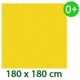 MALÝ GÉNIUS Žlutý pěnový koberec  - XL 9 dílů 16mm (díl 60cm)