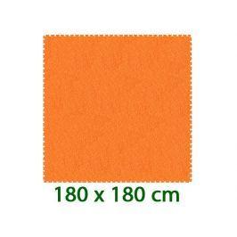 MALÝ GÉNIUS Oranžový pěnový koberec  - XL 9 dílů 16mm (díl 60cm)