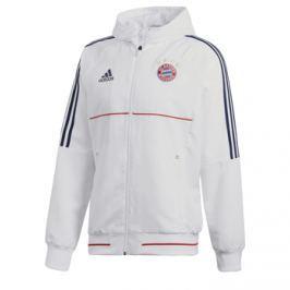 Adidas Pánská sportovní bunda  Pre Match FC Bayern Mnichov bílá, M