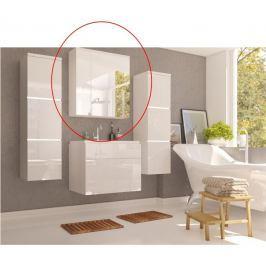Tempo Kondela Skříňka se zrcadlem, bílá / bílý HG, MASON