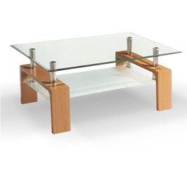 Tempo Kondela Konferenční stolek, sklo/buk, LIBOR NEW