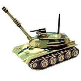 Dřevěná skládačka - Tank barevný PC050