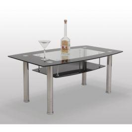 Tempo Kondela Konferenční stolek, sklo/ocel, BASEL - ERVIN