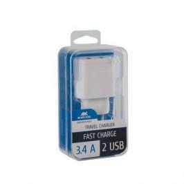 RIVACASE Nabíječka VA 4123 W00, bílá, 2 x USB,  3,4A,