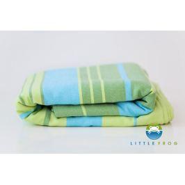 LITTLE FROG Tkaný šátek na nošení dětí s bambusem - Bamboo Turquoise, XXL