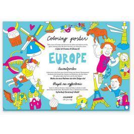 Europe - Plakát omalovánka