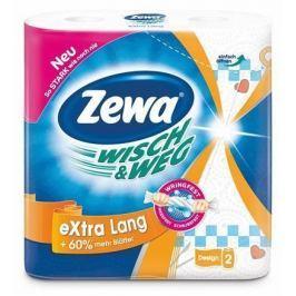 ZEWA Kuchyňské utěrky Wisch&Weg extra lang, 2vrstvé, 2 role,
