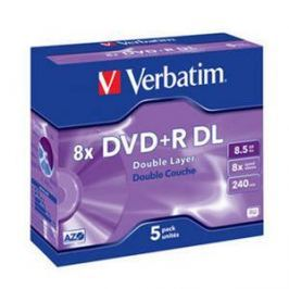 Verbatim Disk  DVD+R DualLayer, 8,5GB, 8x jewel box, 5ks