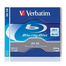 Verbatim BD-RE Blu-Ray, DL, přepisovatelný, 25GB, 2x, , jewel box