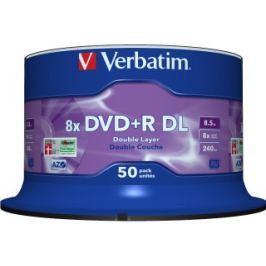 Verbatim DVD+R DL [ spindle 50 | 8.5GB | 8x | matt silver surface ]