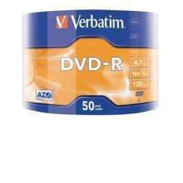 Verbatim DVD-R 4,7GB, 16x, Printable, matné, , 50ks ve fólii