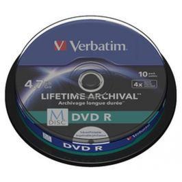Verbatim M-DISC DVD R [ Spindle 10 | 4.7GB | 4x | INKJET PRINTABLE ]