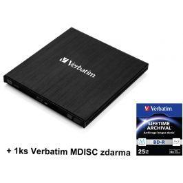 Verbatim Blu-ray Externí mechanika, USB 3.0, černá,