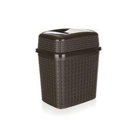 BRILANZ Koš odpadkový 28 x 21 x 32,5 cm, 10 l, hnědý