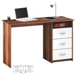 Tempo Kondela PC stůl, bílá/švestka, LARISTOTE