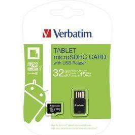 Verbatim Paměťová karta, SDHC, 32GB, Class 10 UHS I, 45/10MB/sec,