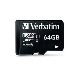 Verbatim Paměťová karta, SDXC, 64GB, Class 10 UHS I, 45/10MB/ sec,
