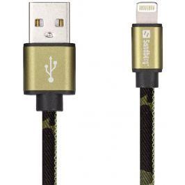 Sandberg Lightning kabel Green Camouflage 1m