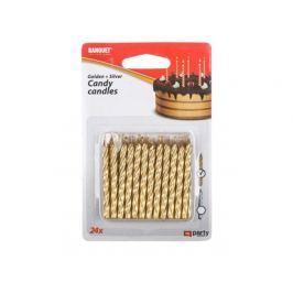 BANQUET Svíčky narozeninové MY PARTY Candy 24 ks, zlaté a stříbrné