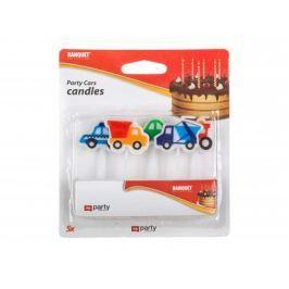 BANQUET Svíčky narozeninové PARTY Cars, 5 ks