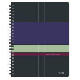 LEITZ Blok Executive Project, drátěná kroužková vazba, A4, linkovaný, 80 listů, LEIT