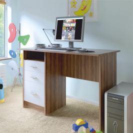 Tempo Kondela PC stůl, švestka bílá, SAMSON NEW