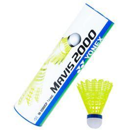 Yonex Badmintonové míče  Mavis 2000 Yellow (dóza po 6 ks), červený proužek (do 14°C)