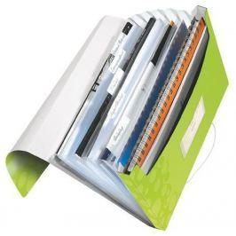 LEITZ Aktovka na spisy s přihrádkami  WOW, Metalická zelená