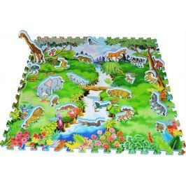 Pěnové puzzle, Pěnový koberec se zvířátky Safari