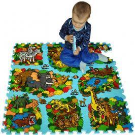 Pěnové puzzle - koberec s cestami, Džungle