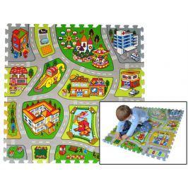 Pěnové puzzle, koberec s cestami - Město B 2v1