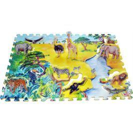 Pěnové puzzle - koberec, Afrika 2v1
