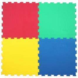 Pěnový koberec extra velký barevný, díl 60x60cm, 4 díly 0+