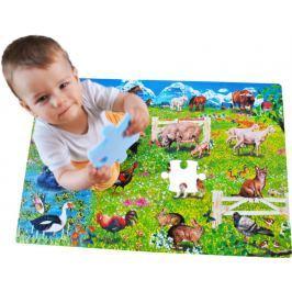 Pěnové podlahové puzzle, koberec - Zvířata (90x60)
