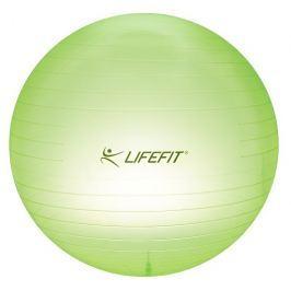 LIFEFIT Gymnastický míč  TRANSPARENT 65 cm, sv. zelený