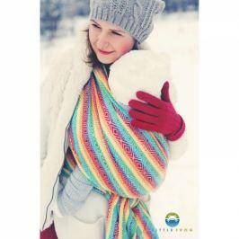 LITTLE FROG Žakarový tkaný šátek na nošení dětí - Rainbow Cube, XL