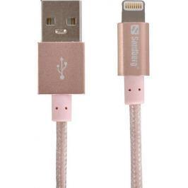 Sandberg Excellence Lightning kabel 1m růžový
