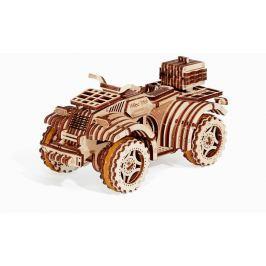 Wood Trick 3D mechanické puzzle - Čtyřkolka