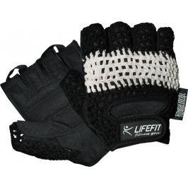 Rulyt Fitness rukavice LIFEFIT KNIT, černo-bílé, XL