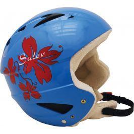 Sulov Lyžařská přilba  STING , modrá lesk-kytka, M
