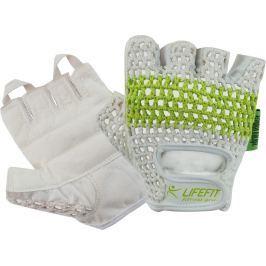 Rulyt Fitnes rukavice LIFEFIT FIT, bílo-zelené, S